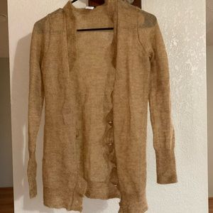 Soft, Gold Cardigan from JCrew